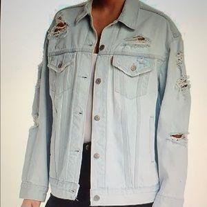 Levi's Baggy Trucker Denim Jacket in Thin Ice